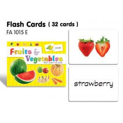 Flash Cards(32 cards)-Fruits & Vegetables