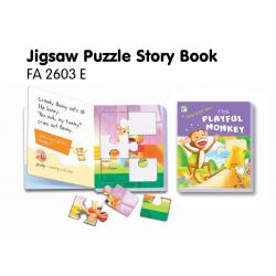 Jigsaw Puzzle Board Book-The Playful Monkey