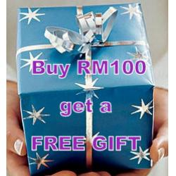 Buy RM100 and get a FREE GIFT