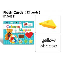 Flash Cards(32 cards)-Colours & Shapes