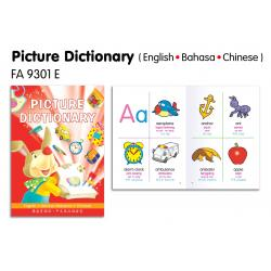Picture Dictionary(English-Bahasa-Chinese)