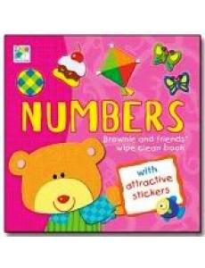 Wipe Clean Sticker Book-Numbers