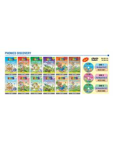 Phonics Discovery (Full set: 6 text books + 6 activity books + 3 DVDs)